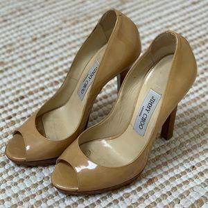 Jimmy Choo Patent Leather Nude Heels